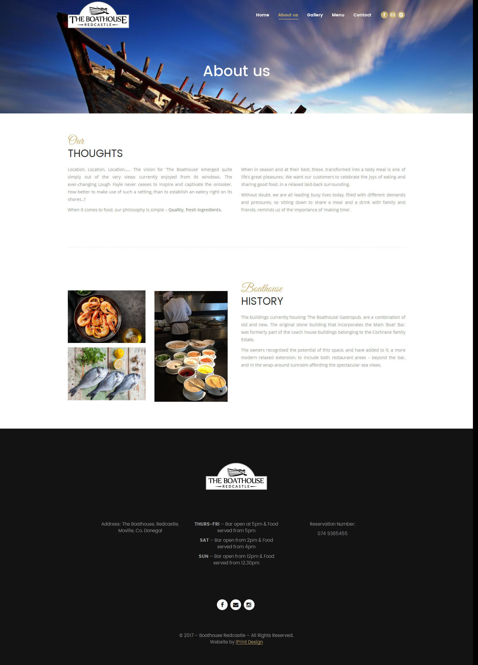 Boathouse Website Sample Page 3