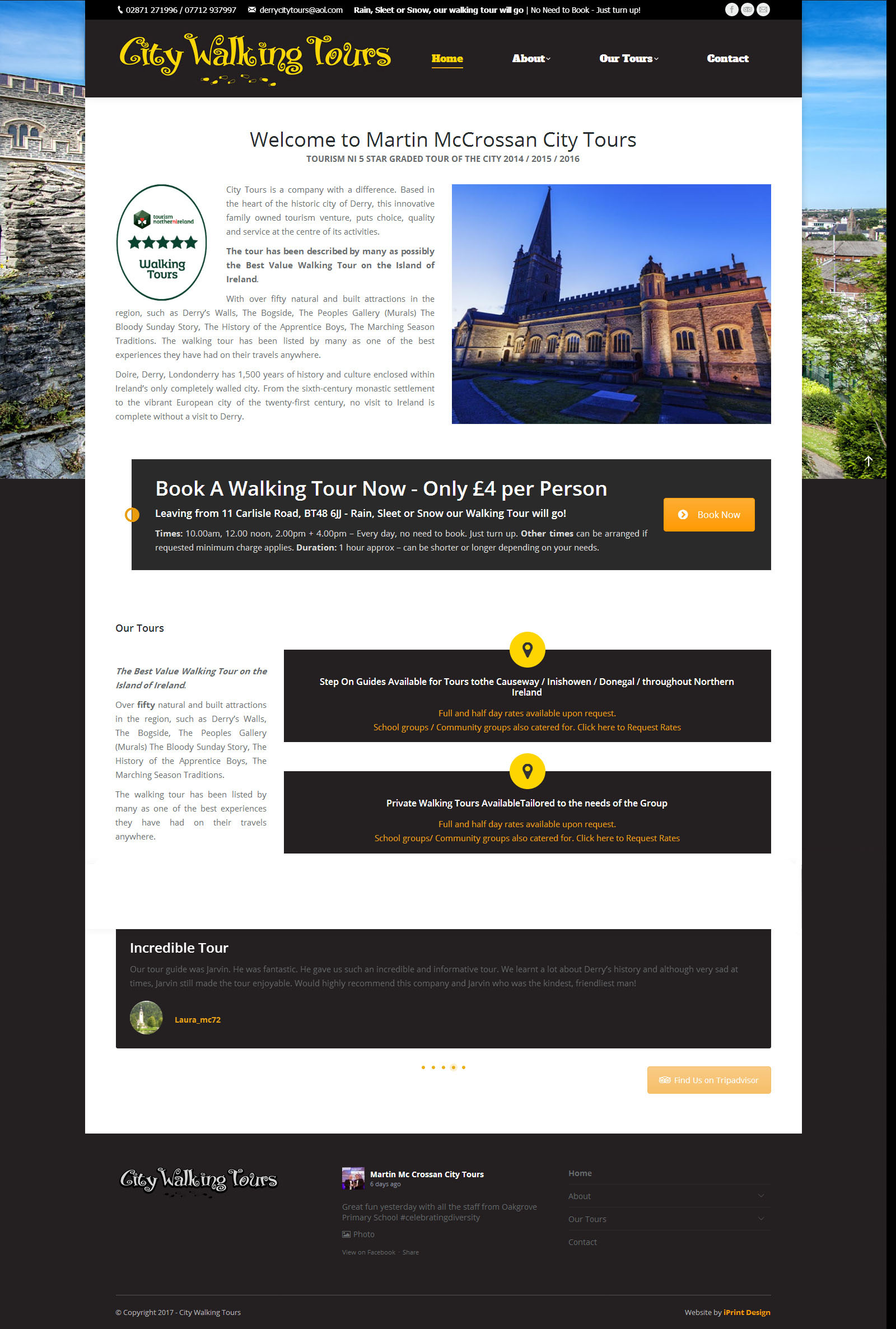 City Walking Tours - Website Sample Page 3