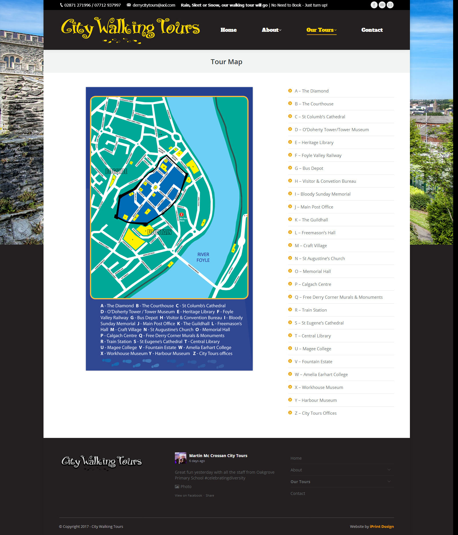 City Walking Tours - Website Sample Page 2