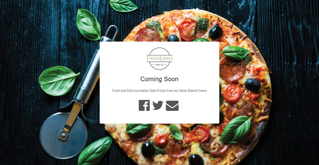 Favoloso Pizza - Landing Page