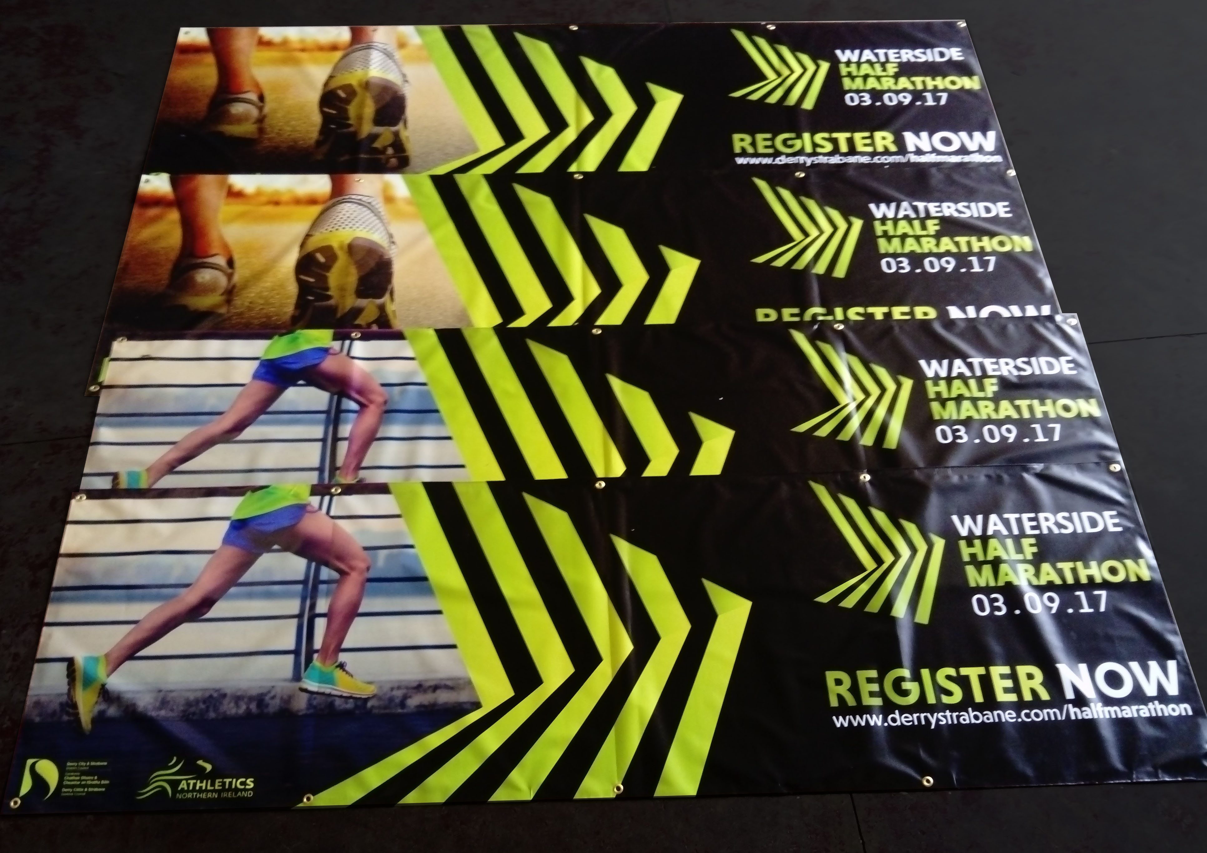Banners for the Waterside Half Marathon