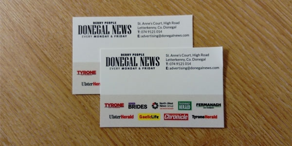Donegal news Business Cards