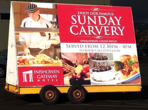 Trailer Signage for Inishowen Gateway