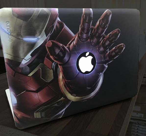 Macbook Cover printed with Iron Man