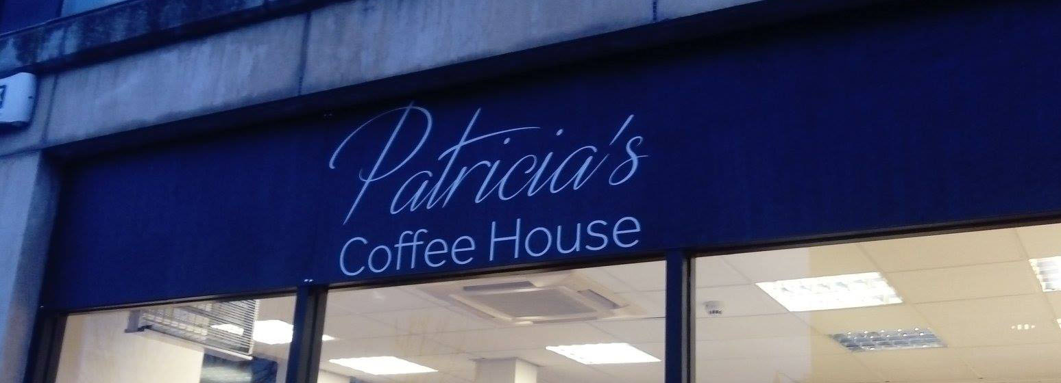 Signage for Patricia's Coffee House