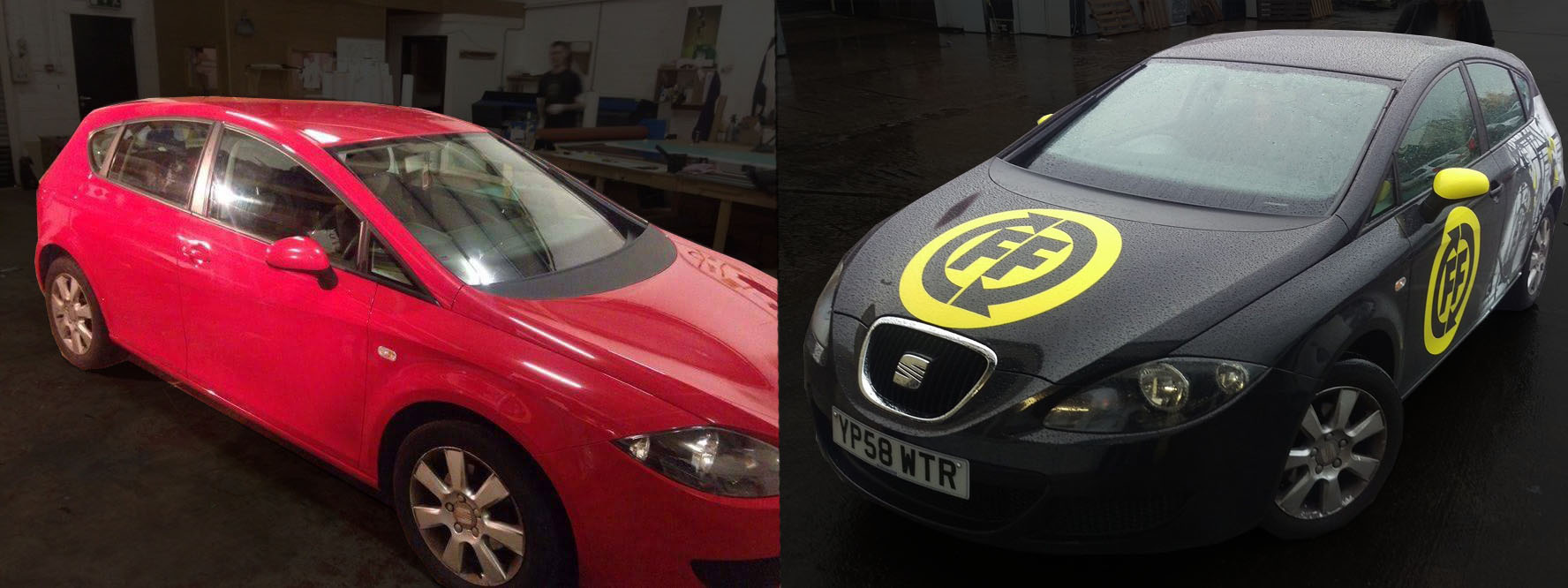 Seat Wrap - Before and after - FF-Fitness