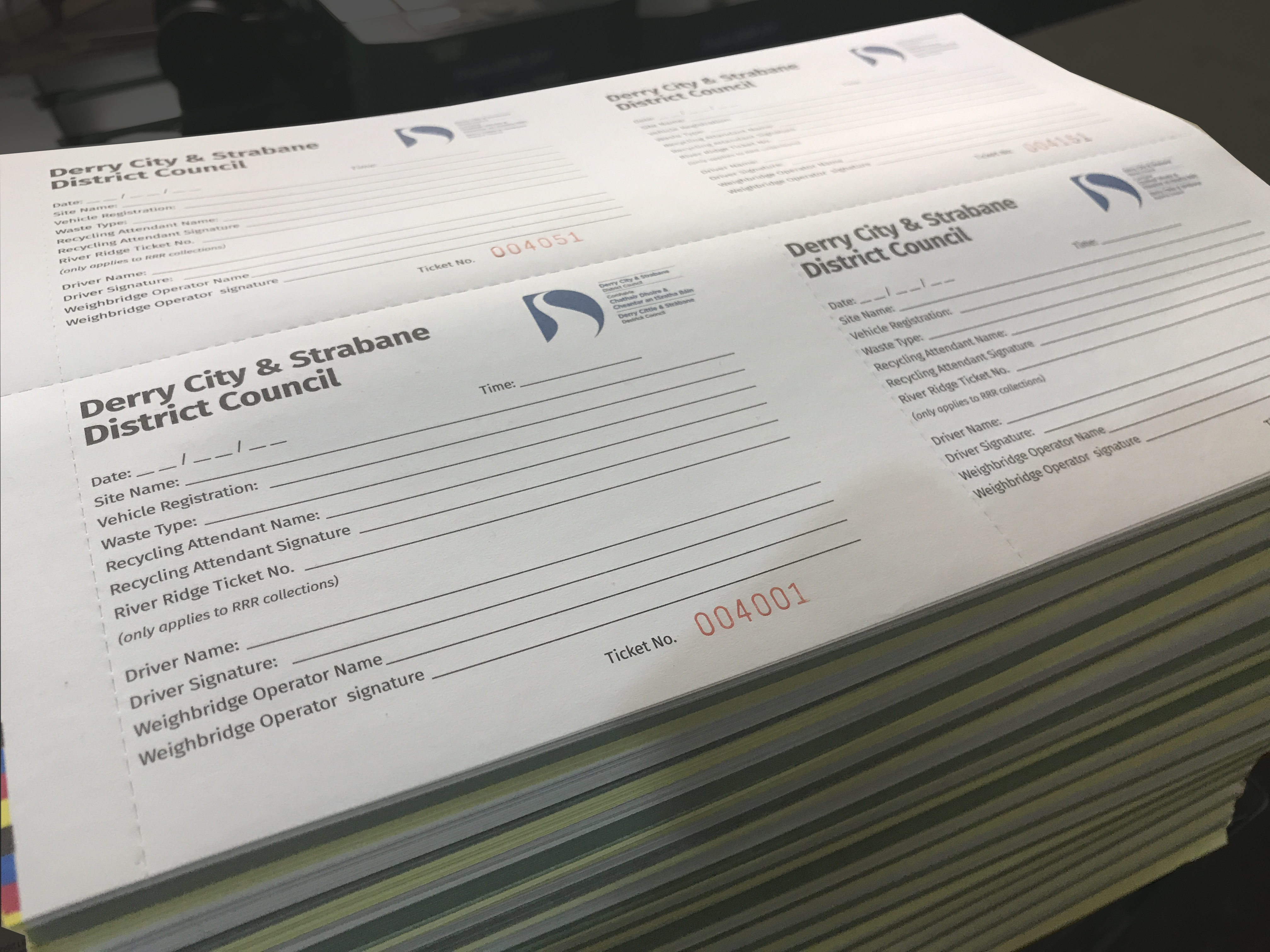 Perforated Recycling booklets